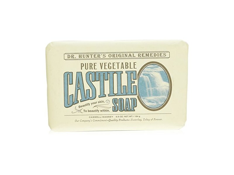 Caswell-Massey Dr. Hunter's Pure Vegetable Castile Soap Natural Bath Soaps With Shea Butter, 6.5 Ounces