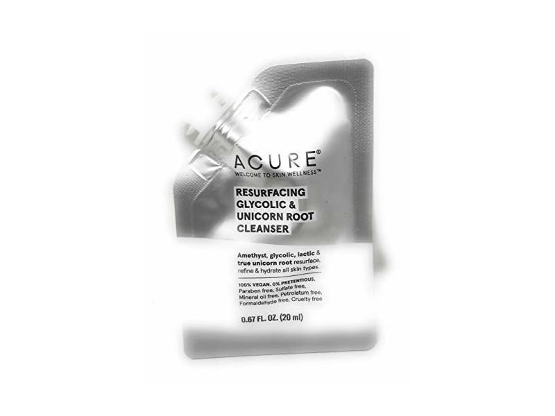 Acure Cleanser Resurfacing Glycolic Unicorn Root Pouch, 0.67 Ounce