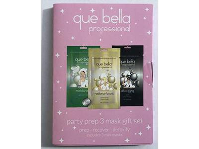 Que Bella Party Prep Mask Gift Set, 3 ct