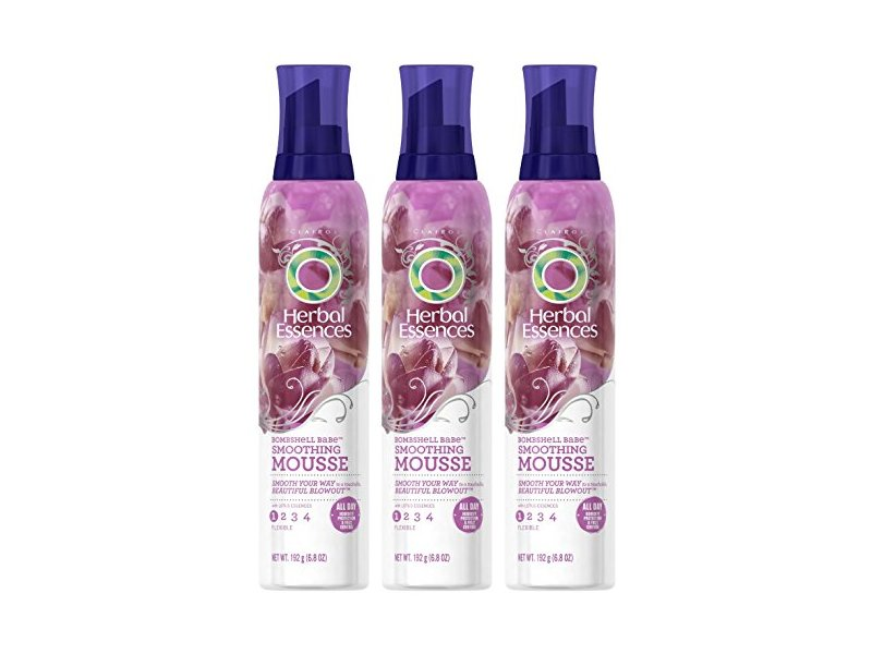 Herbal Essences Hair Mousse, Bombshell Babe Smoothing Mousse, Flexible Hold 1, 6.8 oz