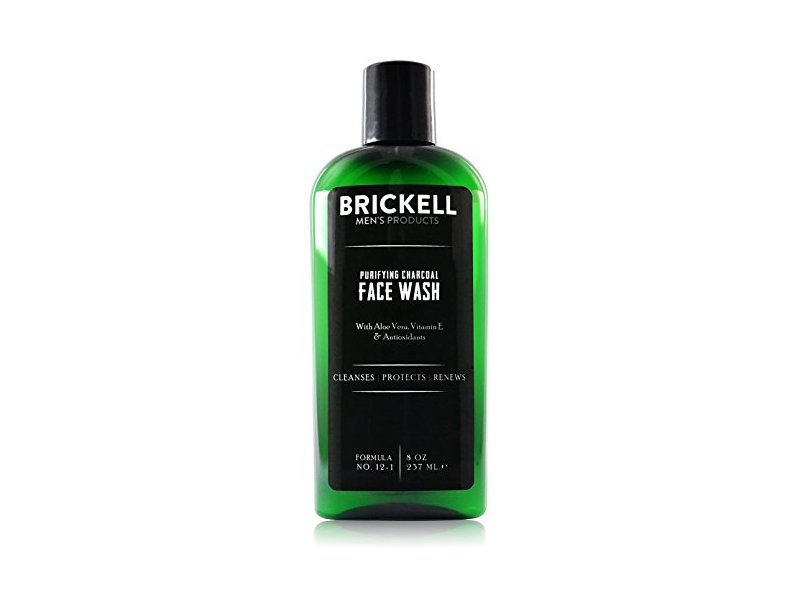 Brickell Men's Purifying Charcoal Face Wash for Men, 8 oz