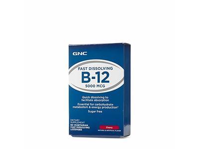 GNC Fast Dissolving B12 Lozenges 5000 mcg Cherry