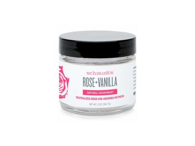 Schmidt's Natural Deodorant Jar, Rose + Vanilla, 2 oz