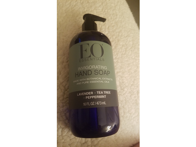 EO Essentials Invigorating Hand Soap, Lavender + Tea Tree + Peppermint, 1.6 fl oz/473 mL - Image 3