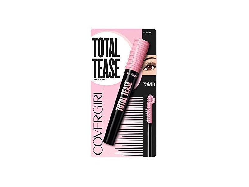 Covergirl Total Tease Mascara, Very Black, 0.21 Ounce