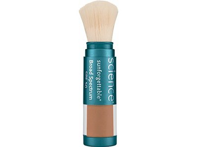 Colorescience Sunforgettable Brush-on Sunscreen, SPF 50, Deep, 0.21 oz.