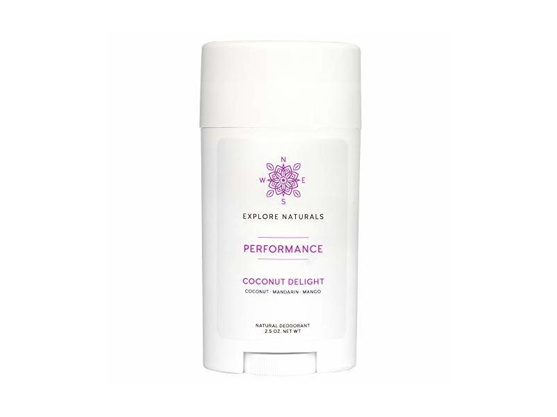 Explore Naturals Natural Deodorant, Coconut Delight, 2.5 oz