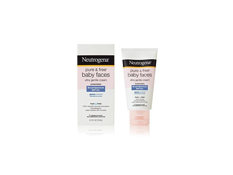 Neutrogena Pure and Free Baby Faces Sunscreen, SPF 45+, 2.5 oz