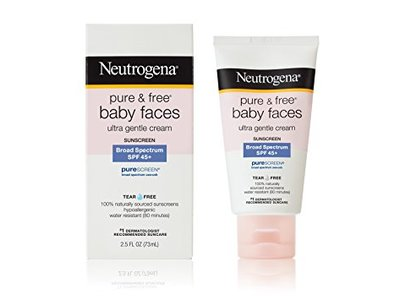 Neutrogena Pure and Free Baby Faces Sunscreen, SPF 45+, 2.5 oz - Image 1