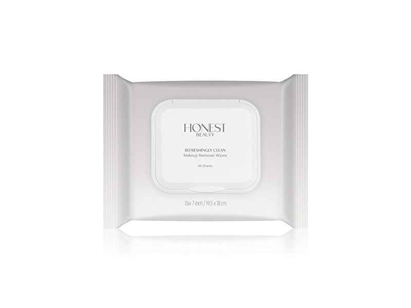 Honest Beauty Refreshingly Clean Makeup Remover Wipes, 30 Sheets