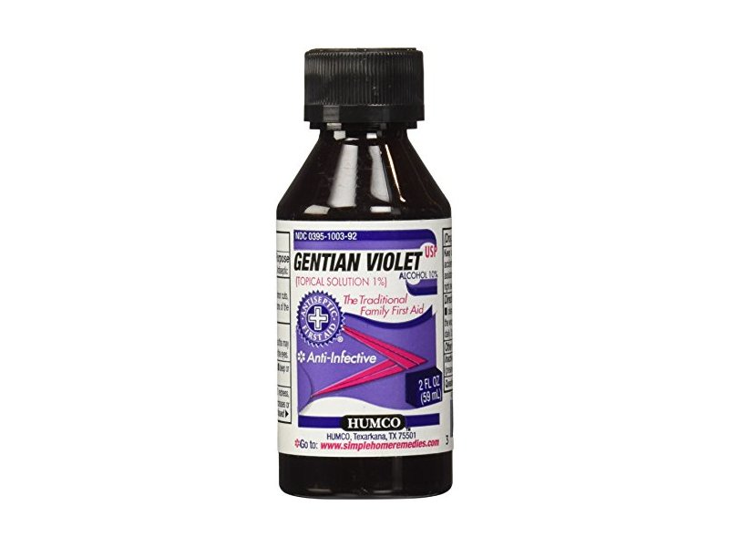 Humco Gentian Violet Topical Solution 1% Liquid, 2 Fl Oz