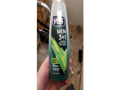 VO5 Men's 3-in- Shampoo Conditioner Body Wash Fresh Energy, 12.5 fl oz - Image 3
