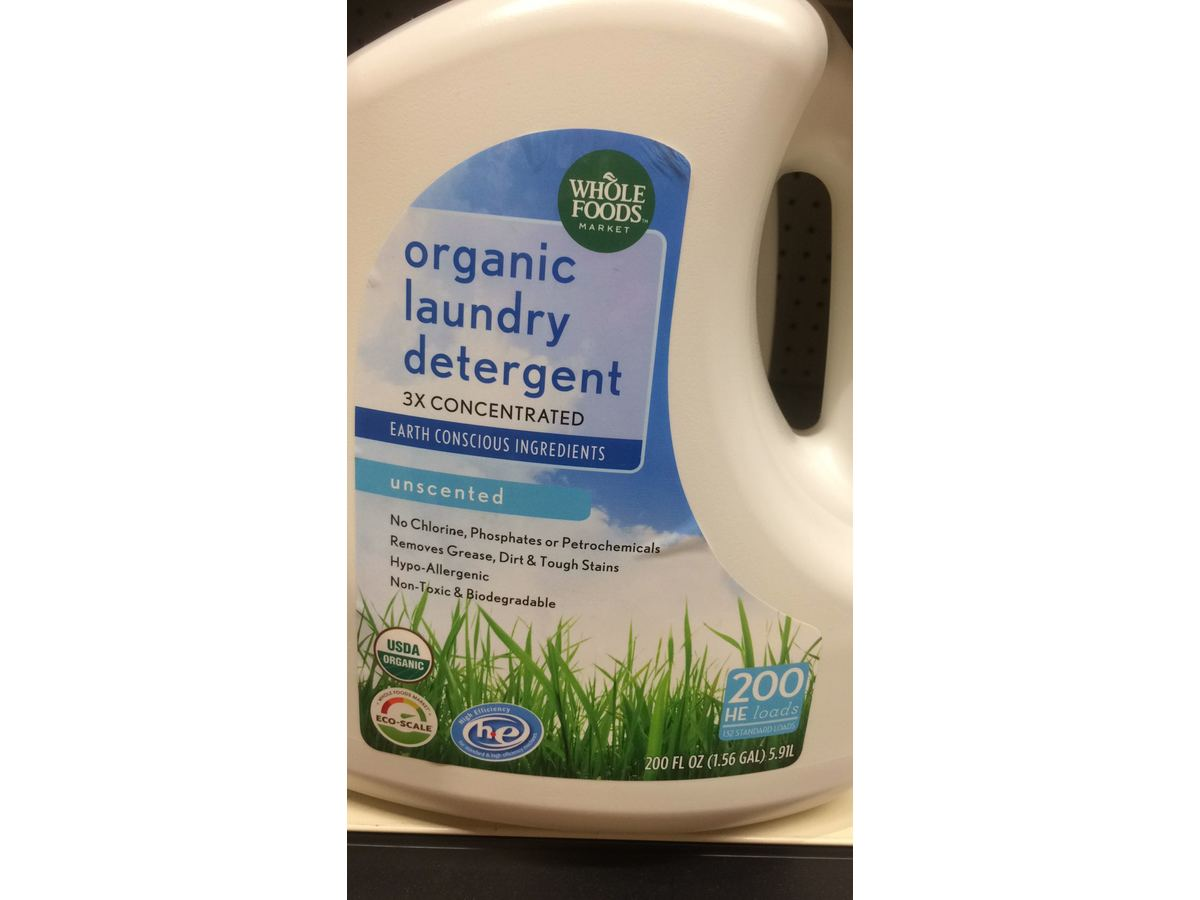 Whole Foods Organic Laundry Detergent 200 Fl Oz