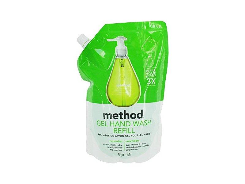 Method Gel Hand Wash Refill, Cocumber, 34 fl oz/1 L