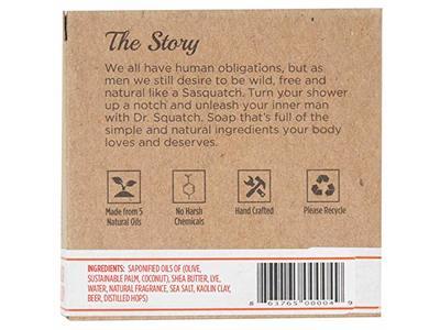Dr. Squatch Crisp IPA Men's Bar Soap, 5 oz - Image 8