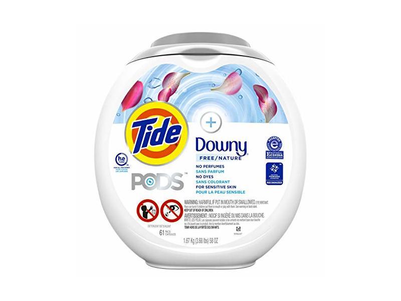 Tide Pods Plus Downy Liquid Laundry Detergent Pacs, Free, 58 oz, 61 Count