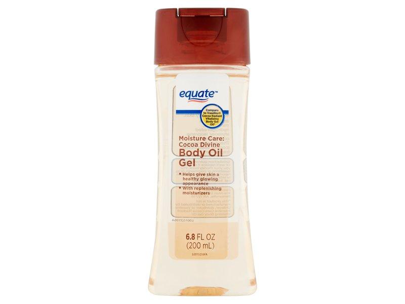 Equate Body Oil Gel, Cocoa Divine, 6.8 fl oz