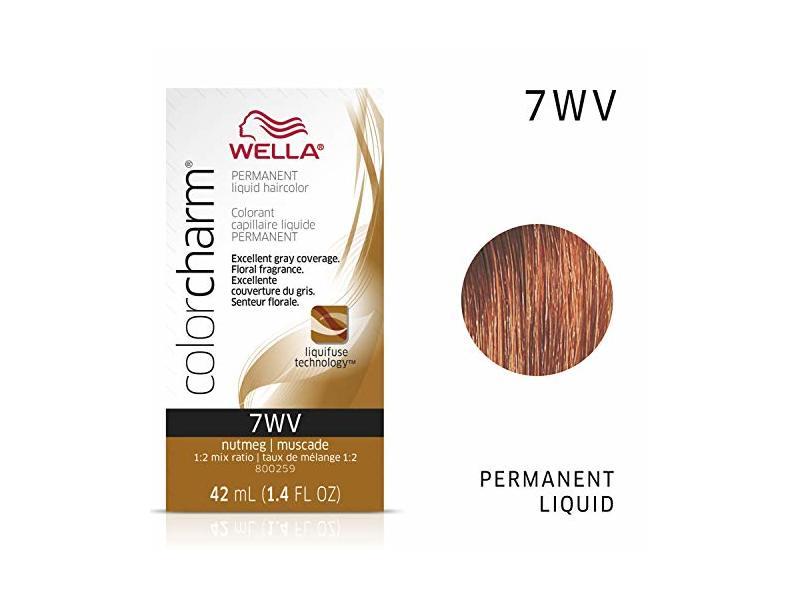 Wella Color Charm Permanent Liquid Hair Color, 7WV Nutmeg