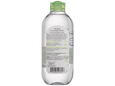 Garnier SkinActive Micellar Cleansing Water All-in-1 Cleanser & Makeup Remover for Oily Skin, 13.5 fl oz - Image 3