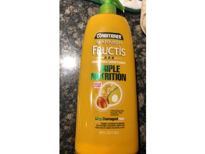 Garnier Fructis Triple Nutrition Conditioner, Dry Damaged Hair, 40 fl oz - Image 3