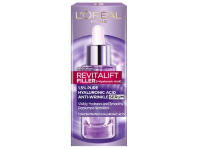 Loreal Paris Revitalift Filler Plus Hyaluronic Acid Anti Wrinkle Serum, 1.0 oz / 30 ml