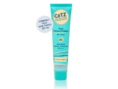 CoTZ Face Prime & Protect SPF40 Mineral Sunscreen, Non-Tinted, 1.5 oz