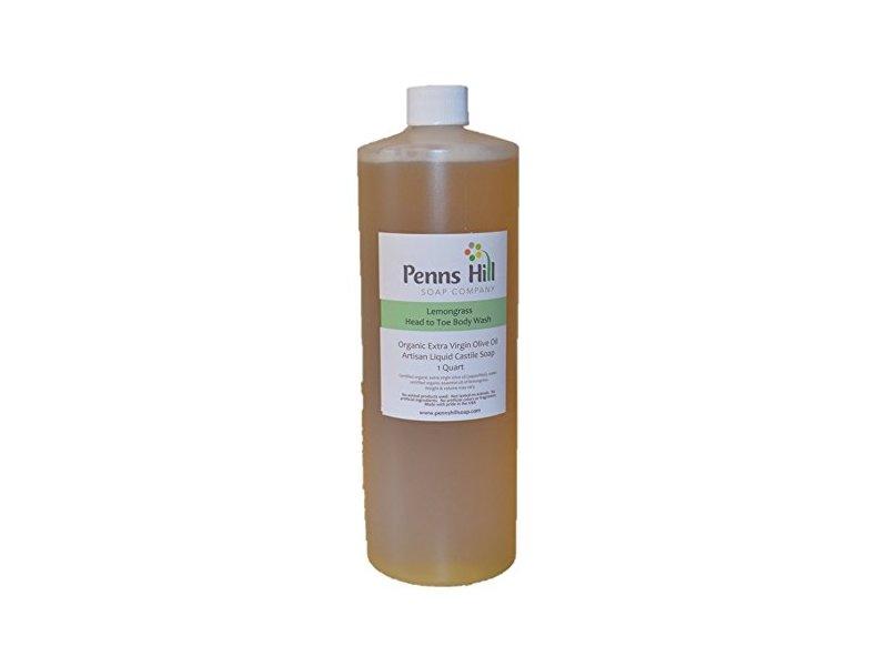 Penns Hill Organic Extra Virgin Olive Oil Liquid Castile Soap, Lemongrass, 8 fl oz