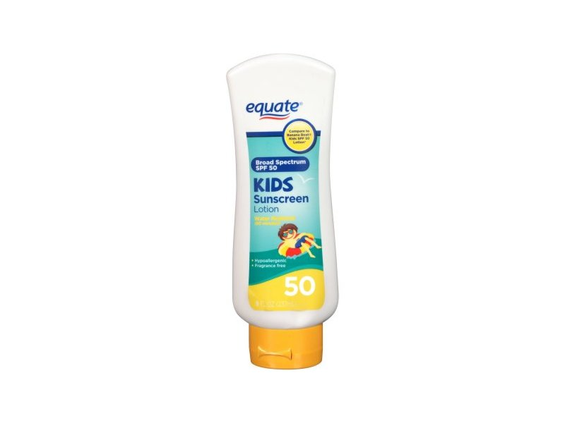 Equate Kids Sunscreen Lotion, SPF 50, 8 fl oz