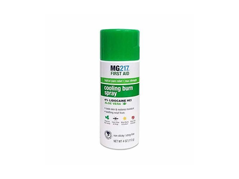 Mg217 Cooling Burn Spray, Max Strength, Aloe Vera, 4 oz/113 g