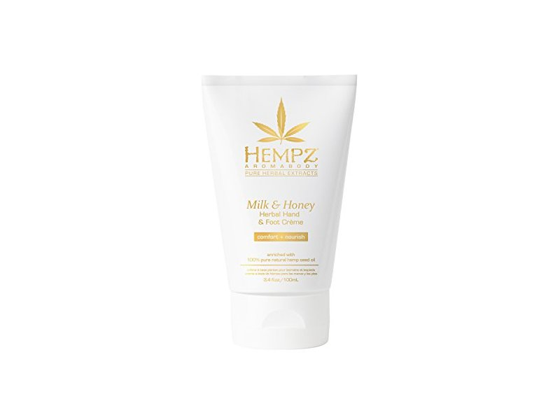 Hempz Milk and Honey Herbal Hand and Foot Creme, 3.4 Ounce