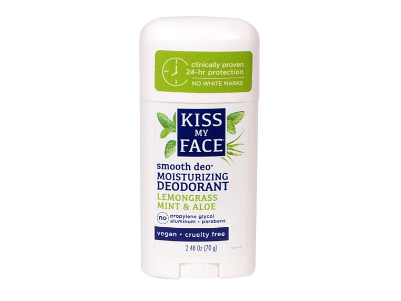 Kiss My Face Moisturizing Deodorant, Lemongrass Mint & Aloe, 2.48 oz