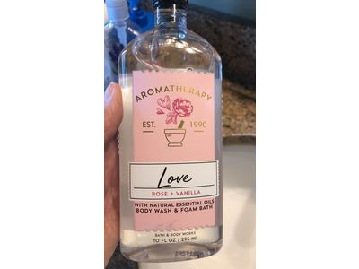 Bath & Body Works Aromatherapy Body Wash + Foam Bath, Love, 10 fl oz - Image 3