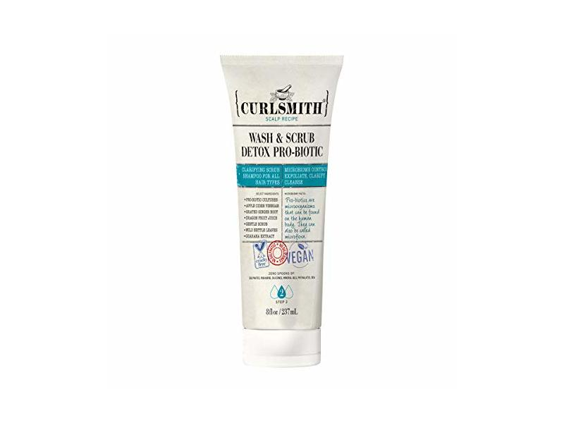 Curlsmith Wash & Scrub Detox Pro-Biotic, 8 oz / 237 ml