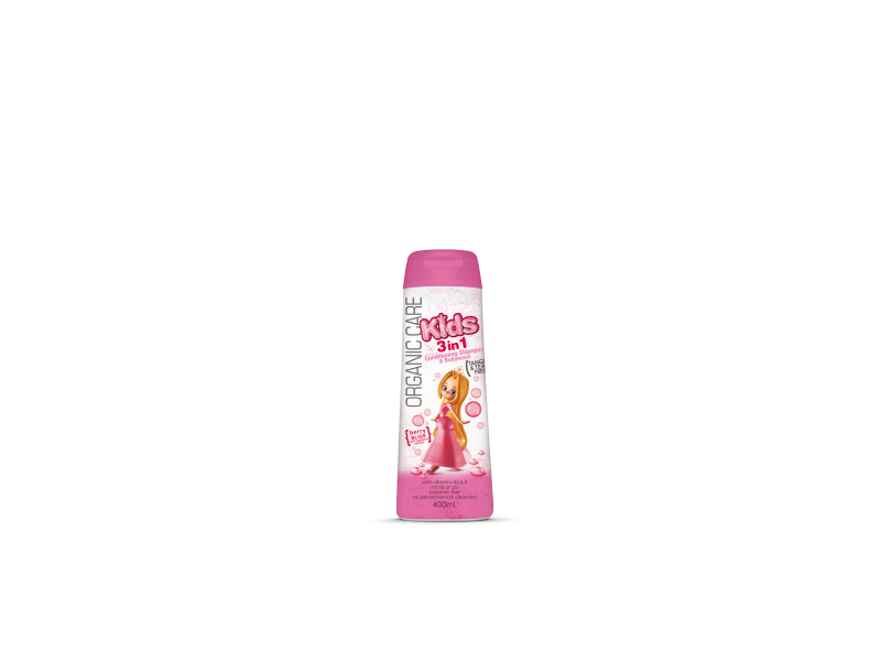 Nature's Organics Organic Care Kids 3-in-1 Conditioning Shampoo and Body Wash, Berry Bliss, 400 mL