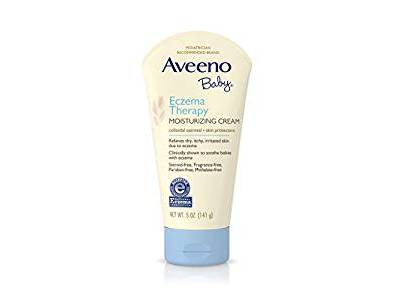 Aveeno Baby Eczema Therapy Moisturizing Cream for Dry Skin, 5 oz - Image 1