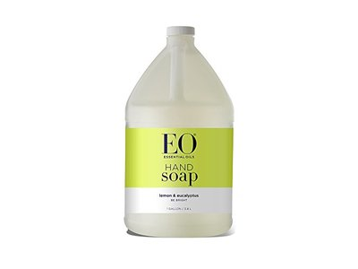 EO Liquid Hand Soap Refill, Lemon and Eucalyptus, 128 Fluid Ounce