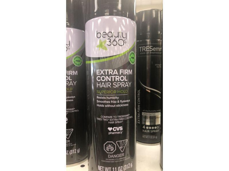 Beauty 360 Extra Firm Control Hair Spray, 11 oz/312 g