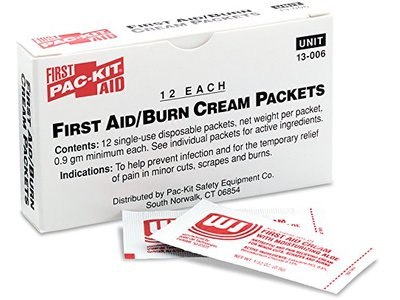 Forestry Suppliers First Aid Refill, ABT First Aid/Burn Cream, 0.5g packets, Box of 12