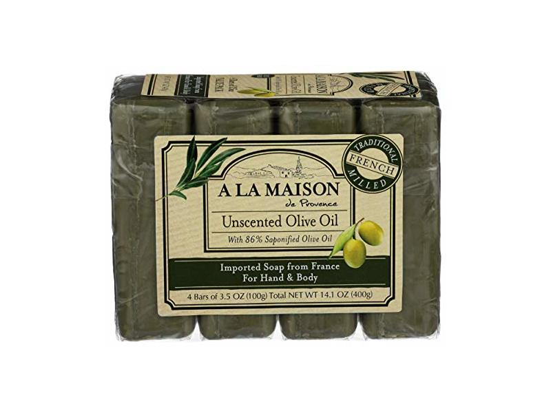 A La Maison, Soap Bar Hand Body Unscented Olive Oil, 14.1 Ounce