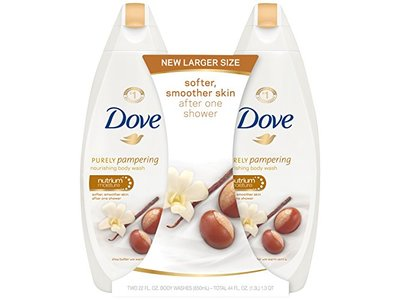 Dove Purely Pampering Body Wash Shea Butter 22 Oz Twin Pack Ingredients And Reviews