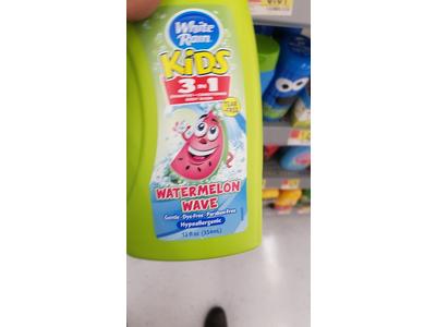 White Rain Kids 3 in 1 Watermelon Shampoo/Conditioner/Body Wash, 12 fl oz