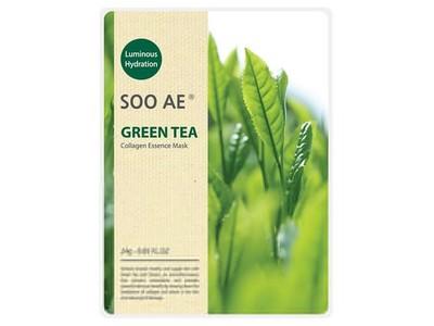 Soo Ae Luminous Hydration Collagen Essence Mask, Green Tea, 5 ct