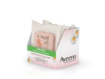 Aveeno Ultra-Calming Cleansing Oil-Free Makeup Removing Wipes for Sensitive Skin, 25 Count, Twin Pack - Image 9