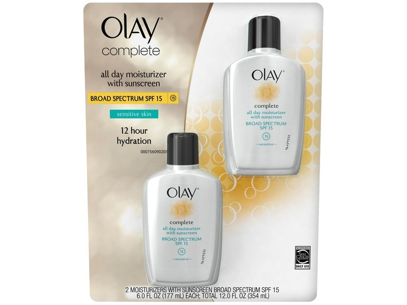 Olay Complete Sensitive Plus All Day Moisturizer with Sunscreen, SPF 15