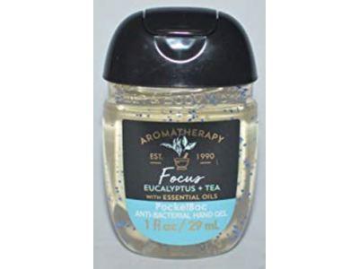 Bath & Body Works Aromatherapy Focus Hand Sanitizer, Eucalyptus +Tea, 1 fl oz