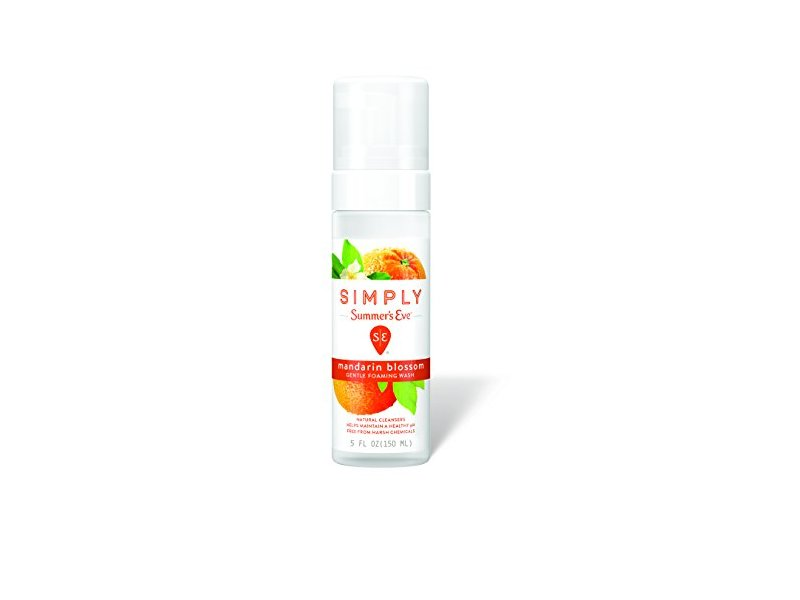 Simply Summer's Eve Gentle Foaming Wash, Mandarin Blossom, 5 Ounce
