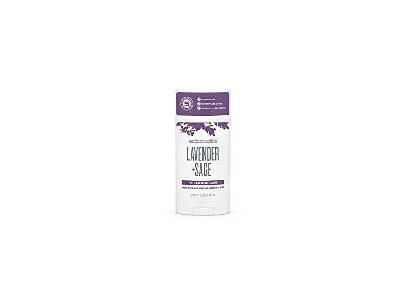 Schmidt's Deodorant Stick, Lavender & Sage, 3.25 oz