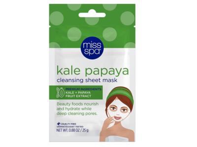 Miss Spa Kale Papaya Cleansing Facial Sheet Mask, 1 count