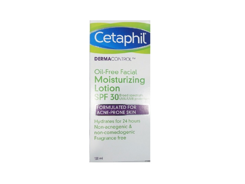 Cetaphil DermaControl Oil-Free Facial Moisturizing Lotion, SPF 30, 120 mL