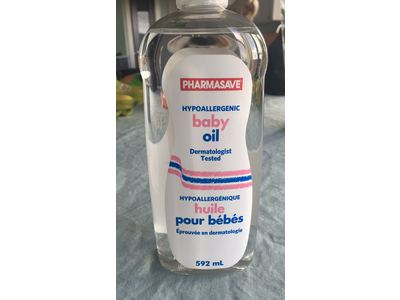 Pharmasave Hypoallergenic Baby Oil, 592 mL